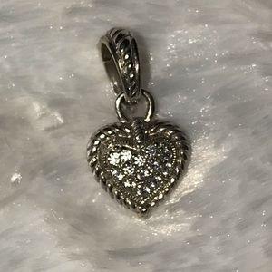 """Judith Ripka sterling 1"""" heart enhancer"""